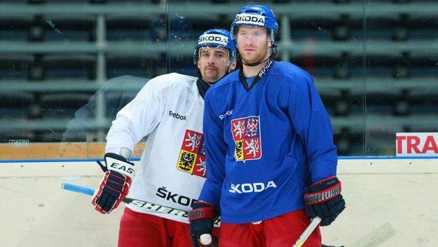 Jiří Novotný (vpravo) si pochvaloval tým Lva Praha