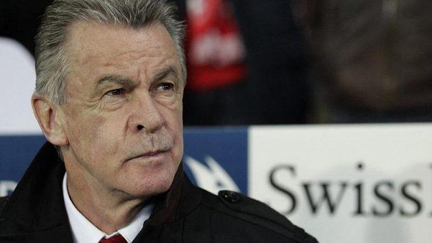 Trenér švýcarského národního týmu Ottmar Hitzfeld