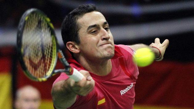 Nicolás Almagro třetí bod pro Španěly nevybojoval, Štěpánkovi podlehl 1:3 na sety.