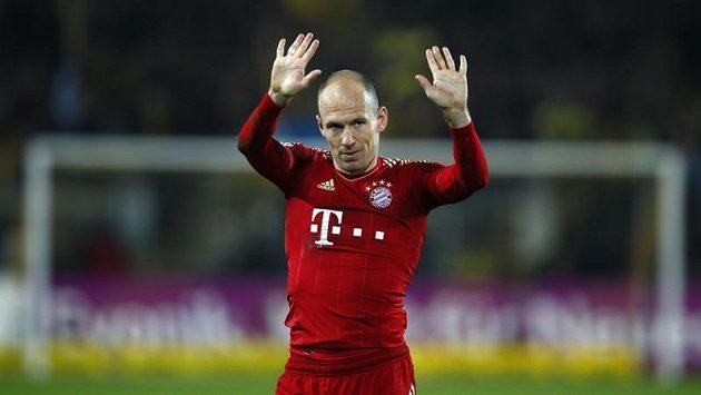 Arjen Robben v dresu Bayernu.