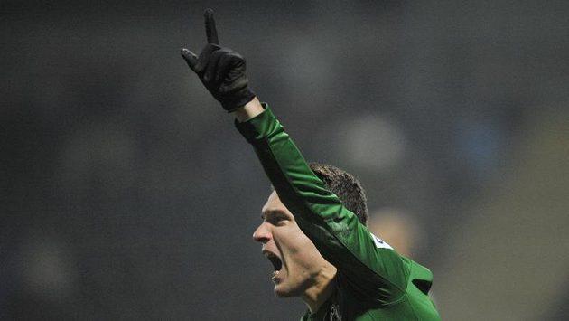 David Lafata se raduje z gólu do sítě Hradce.