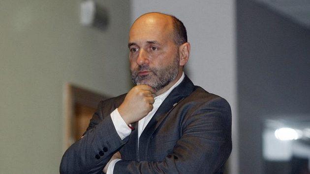Šéf Plzně Tomáš Paclík na Strahově během zasedání disciplinární komise FAČR.