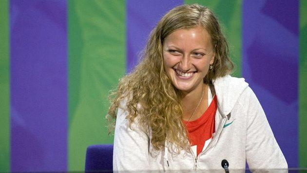 Petra Kvitová na tiskové konferenci k Wimbledonu