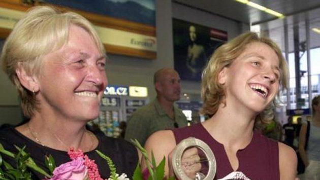 Šťastná Jana Pechanová s maminkou.