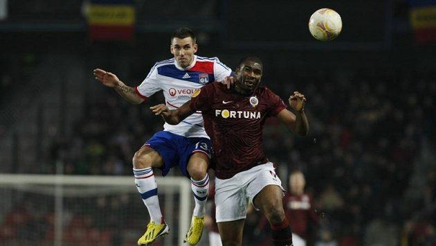 Anthony Réveillére z Lyonu v utkání proti Spartě.