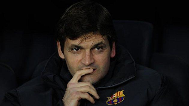 Trenér barcelonských fotbalistů Tito Vilanova.