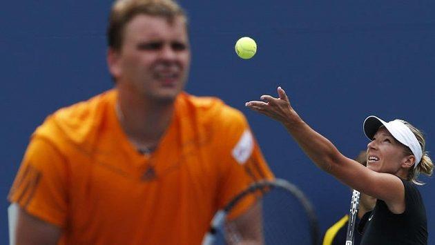 Květa Peschkeová s Marcinem Matkowskim ve finále mixu na US Open neuspěli.