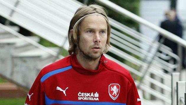 Jaroslav Plašil přichází na trénink.