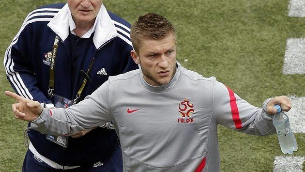 Opora polské reprezentace Jakub Blaszczykowski na tréninku