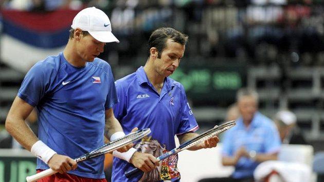 Český daviscupový tým stojí na Tomáši Berdychovi (vlevo) a Radku Štěpánkovi, vědí v Argentině.