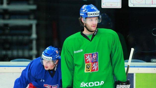 Tomáš Vincour na tréninku národního týmu.