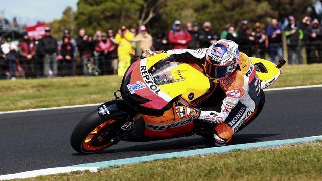 Casey Stoner během tréninku na australský závod ve Phillip Islandu