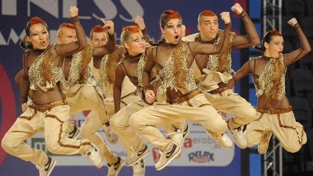 Ruský tým Our style soutěžil 9. června v Praze v kategorii Hip Hop na mistrovství Evropy v aerobiku organizace FISAF.