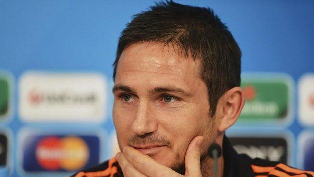 Frank Lampard z Chelsea před finále Ligy mistrů proti Bayernu.