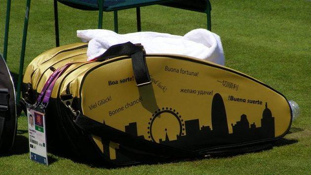 Olympijská taška tenisty Tomáše Berdycha