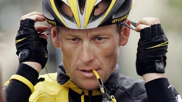 Cyklista Lance Armstrong