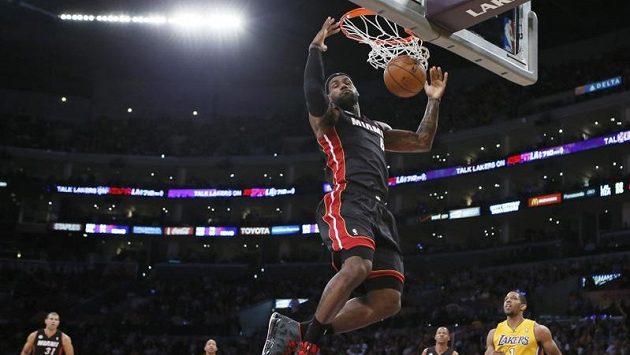 Největším tahounem Miami v utkání s Lakers byl LeBron James.