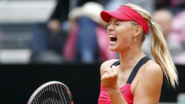 Ruska Maria Šarapovovoá ovládla finále trunaje v Římě.