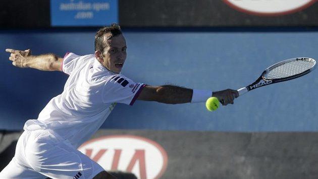 Tenista Radek Štěpánek zatím hraje na Australian Open výborně.