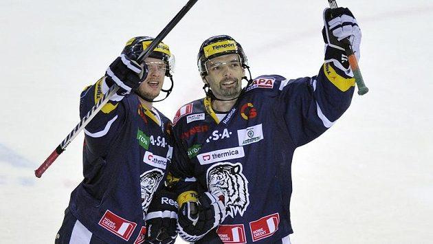 Jaroslav Kudrna (vpravo) a Martin Čakajík z Liberce.