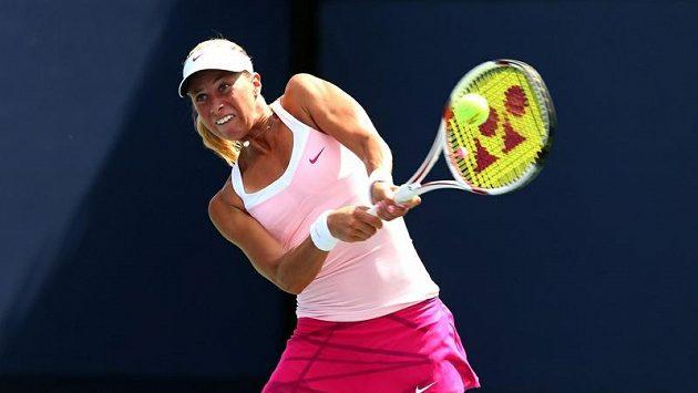 Andrea Hlaváčková (na snímku) bojuje spolu s Lucií Hradeckou o finále French Open.