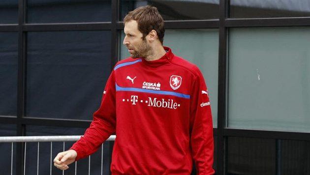 Petr Čech po tréninku fotbalové reprezentace v Polské Vratislavi