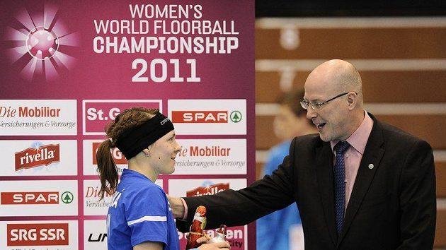 Česká florbalistka Lucie Szotkowská byla vyhlášena nejlepší hráčkou v duelu s Norskem.