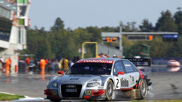 Michal Matějovský s Audi A4 DTM.