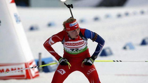 Česká biatlonistka Barbora Tomešová.