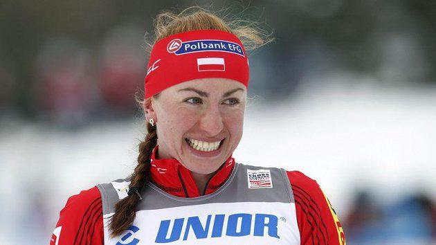 Usměvavá polská běžkyně na lyžích Jusyna Kowalczyková