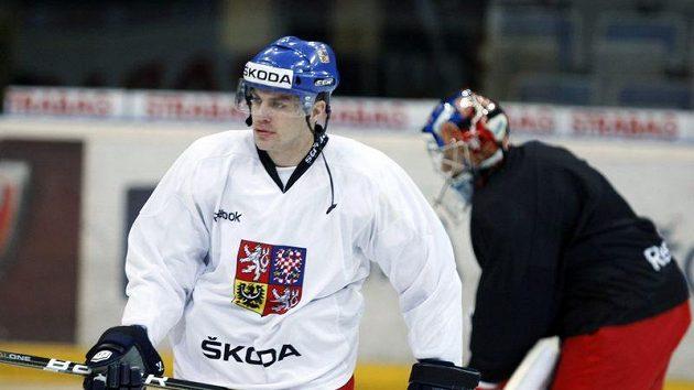 Petr Hubáček na tréninku národního týmu.