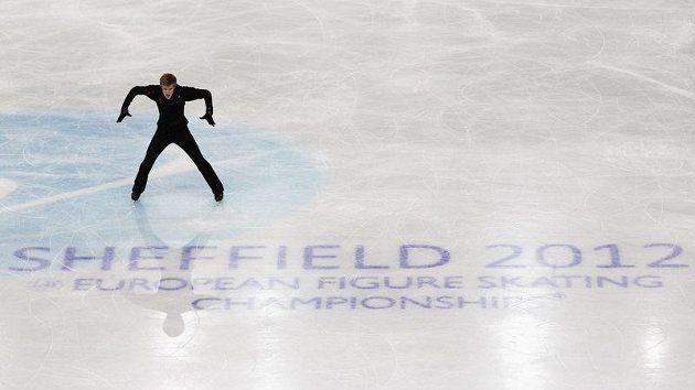 Krasobruslař Tomáš Verner na mistrovství Evropy v Sheffieldu