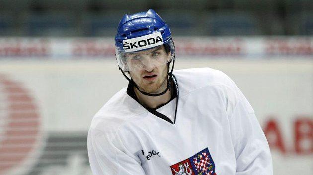Jakub Nakládal na tréninku národního týmu