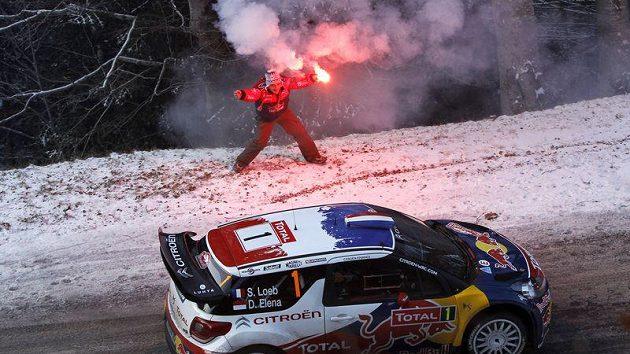 Sebastien Loeb na trati Rallye Monte Carlo