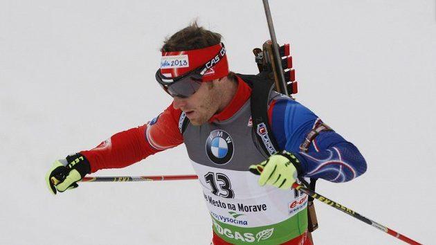 Český biatlonista Michal Šlesingr.
