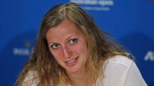 Petra Kvitová na tiskové konferenci v Melbourne před startem Australian Open.