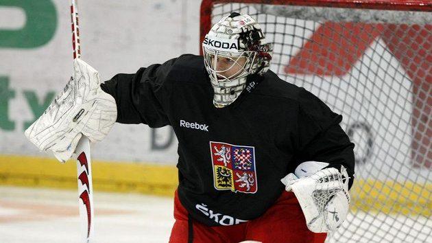 Tomáš Pöpperle na tréninku národního týmu