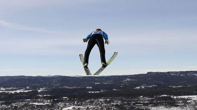 Německý skokan Severin Freund na MS v letech na lyžích ve Vikersundu.