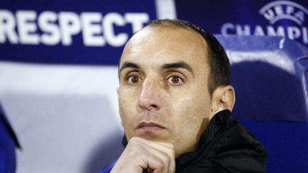 Kouč Dinama Záhřeb Krunoslav Jurčič při středečním zápase Ligy mistrů proti Lyonu.