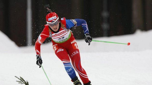 Česká biatlonistka Veronika Vítková