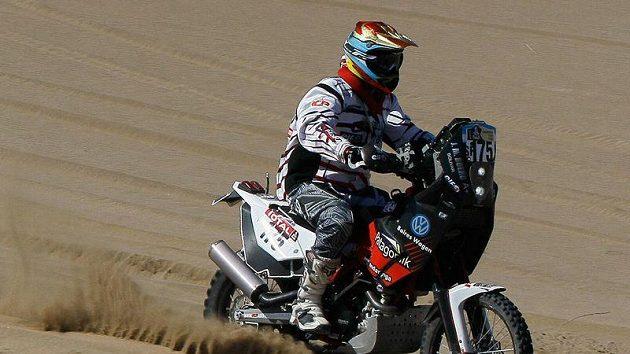 Jorge Boero krátce před osudným pádem na letošním Dakaru.