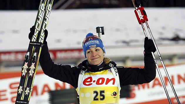 Německá biatlonistka Magdalena Neunerová
