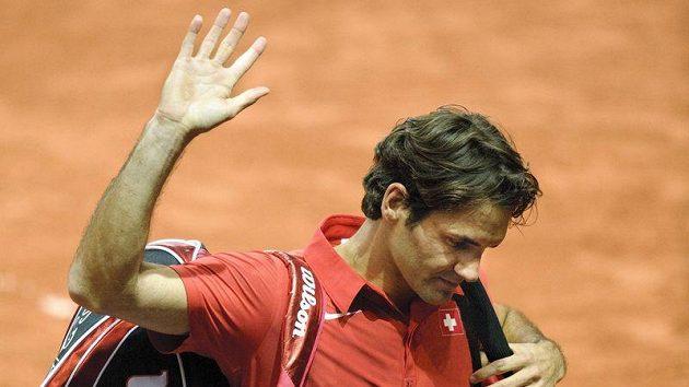 Roger Federer po zápase s Isnerem
