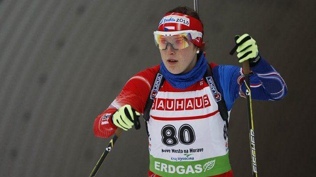 Česká biatlonistka Lea Johanidesová na archivním snímku z roku 2013.