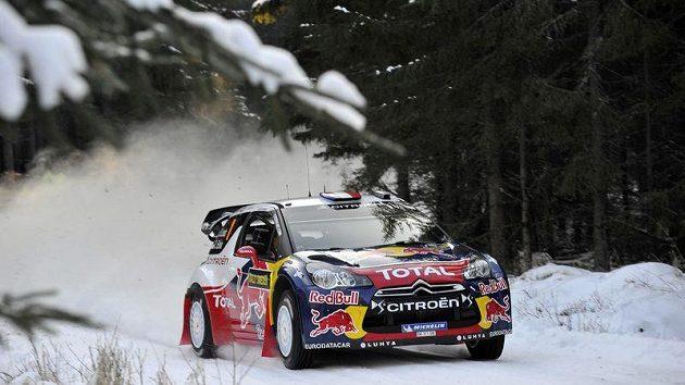 Sebastien Loeb na Švédské rallye.