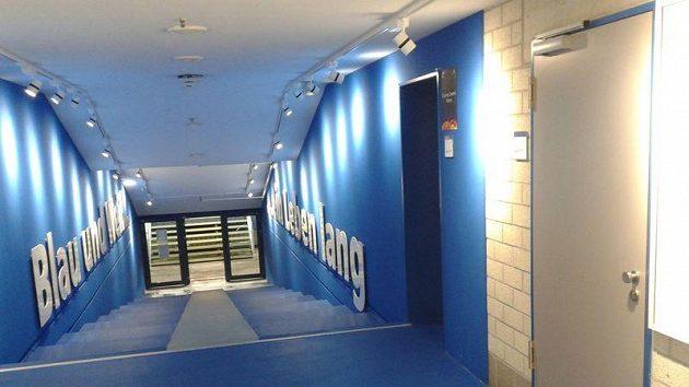 Útroby stadionu německého klubu Schalke 04. Ilustrační snímek.