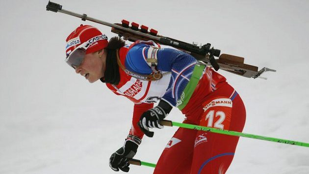 Česká biatlonistka Veronika Vítková v Novém městě bodovala třináctým místem.