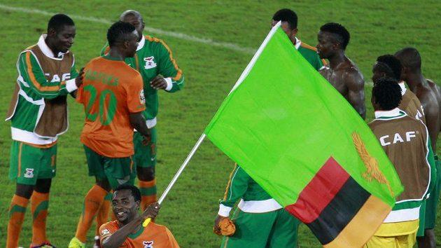 Radost fotbalistů Zambie