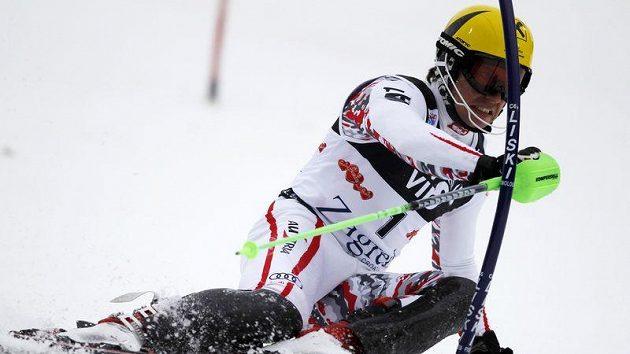 Rakušan Marcel Hirscher na trati v Záhřebu, kde zvítězil a vrátil se do čela Světového poháru.