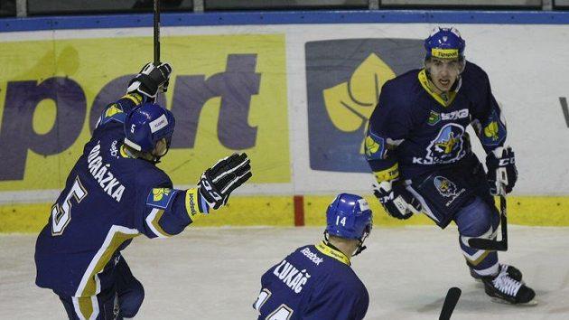 Michal Dragoun (vpravo) se spoluhráči z Kladna